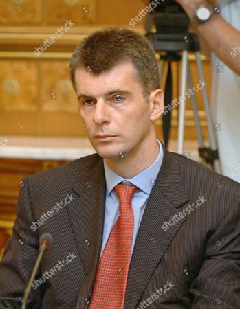 Moscow, Russia, September 7, director general of the norilsk nickel mining and metallurgical company Mikhail prokhorov at a meeting of the council on nanotechnologies.