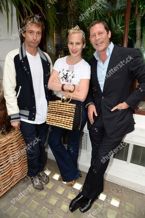 Stock Photo of Dan McMillan, Charlotte Dellal and Arpad Busson