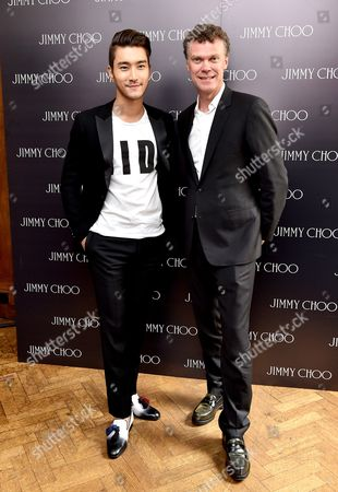Choi Siwon and Pierre Denis, CEO Jimmy Choo