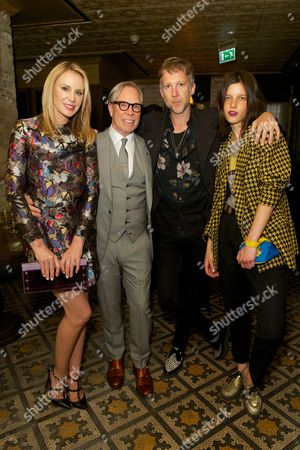 Dee and Tommy Hilfiger with Jefferson Hack and Tatiana Cotliar