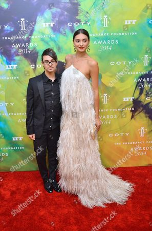 Christian Siriano and Anna Schilling
