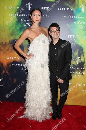 Anna Schilling and Christian Siriano