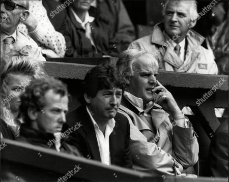 Tony Pickard Former Tennis Player And Tennis Coach To Stefan Edberg Watching Play At The 1988 Wimbledon Championships.