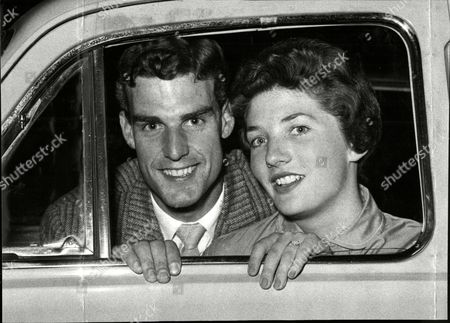 Tennis Player Tony Pickard And Fiancee Janet Sisson. (now His Wife).