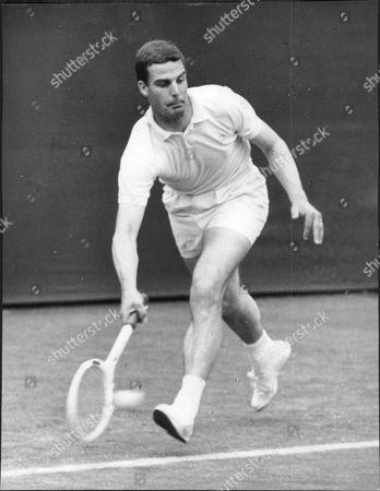 Tony Pickard In Play At The 1964 Wimbledon Championships.