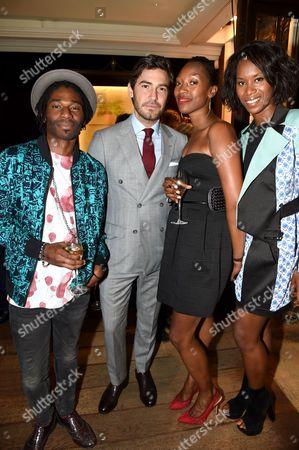 Patrick Egbon-Marshall, Robert Konjic, (Dressed in Dunhill), Vanessa Kingori and Aicha Mckenzie