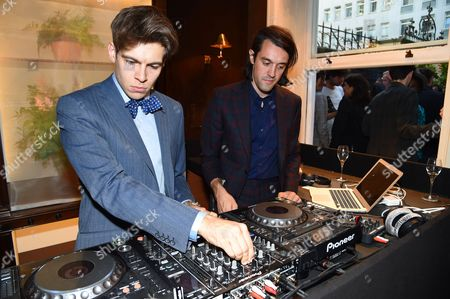 Stock Image of James Righton (Dressed in Dunhill) and Simon Taylor-Davis (Dressed in Dunhill)