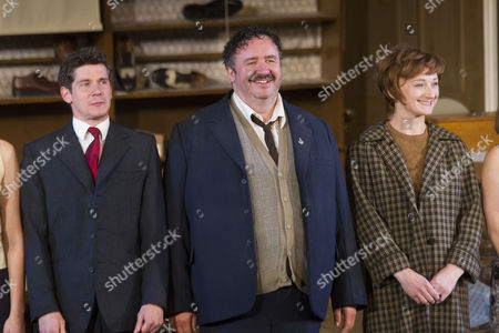 Stock Picture of Karl Davies (Willy Mossop), Mark Benton (Henry Hobson) and Jodie McNee (Maggie Hobson)