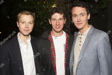 Stock Photo of Jordan Metcalfe (Albert Prosser), Karl Davies (Willy Mossop) and Leon Williams (Fred Beenstock)