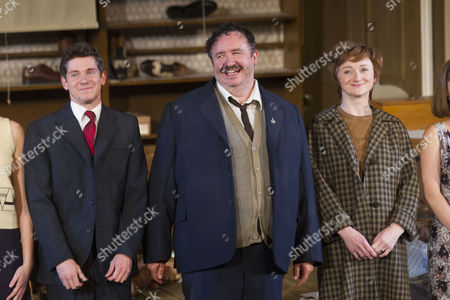 Stock Image of Karl Davies (Willy Mossop), Mark Benton (Henry Hobson) and Jodie McNee (Maggie Hobson)