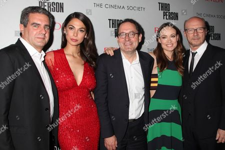 Stock Image of Michael Nozik, Moran Atias, Michael Barker, Olivia Wilde, Paul Haggi
