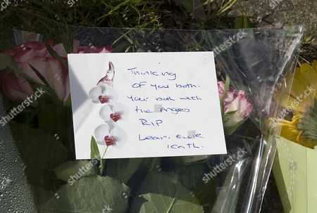Flowers And Messages Left At Scene In Chells Grove Billesley West Midlands Where A Young Mother Yvonne Walsh And Her 9 Month Old Son Harry Were Found Murdered. (3/06/13).
