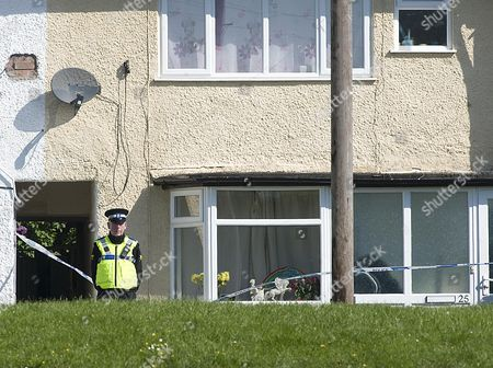 Editorial photo of The Scene At Chells Grove Billesley West Midlands Where A Young Mother Yvonne Walsh And Her 9 Month Old Son Harry Were Found Murdered. (3/06/13). Picture By Damien Mcfadden/daily Mail : 07968 308252.