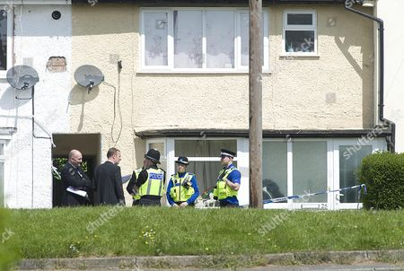 Stock Image of The Scene At Chells Grove Billesley West Midlands Where A Young Mother Yvonne Walsh And Her 9 Month Old Son Harry Were Found Murdered. (3/06/13).