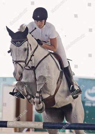 Athina Onassis-de Miranda Competing At The Longines Global Champions Tour 2013 - London.