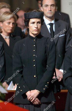 Editorial photo of FUNERAL OF PRINCESS LILIAN DE RETHY, NOTRE DAME CHURCH, BRUSSELS, BELGIUM - 14 JUN 2002