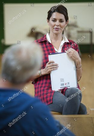 Actress Danielle Bux Who Is Appearing In Melanie Spencer's 'Responsible Other' With Fellow Actor Andrew Frame In Rehearsals...afor Baz Bamigboye.
