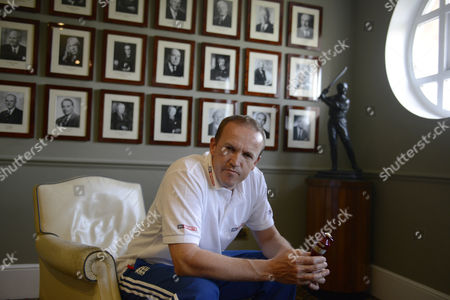 England Cricket National Team Director Andy Flower Photographed At Lords