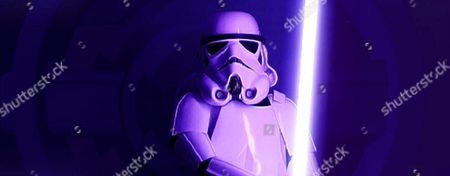A STORMTROOPER SCENE FROM 'STORM AHEAD'