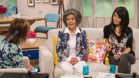 Lorraine Kelly with Marina Chapman & daughter Vanessa James