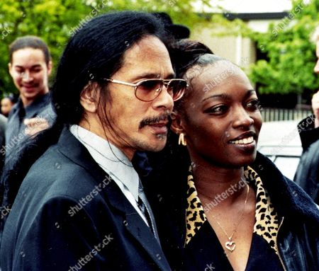 Leon Hendrix and Tamika Carpenter at the Funeral of His Father Al Hendrix.