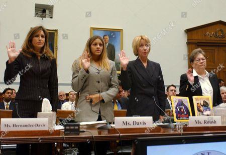 Miriam Hernandez Davis, Dria Davis, Patricia Roush and Ethel Stowers are sworn in