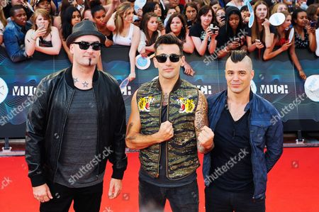 Tommy Mac, Chris Crippin and Jacob Hoggard of Hedley
