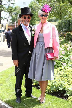 Stock Image of Eddie Jordan and wife Marie Jordan