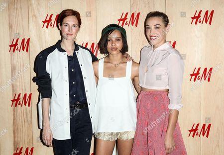 Taylor Tomasi Hill, Zoe Kravitz and Mia Moretti