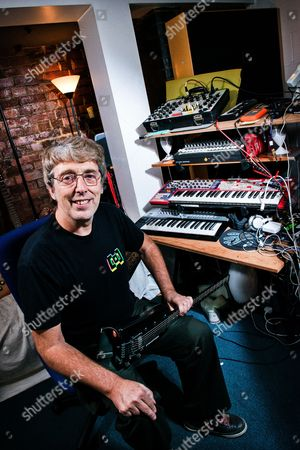 London United Kingdom - June 17: Portrait Of English Musician Steve Hillage Best Known As A Member Of Progressive Rock Group Gong And Electronica Duo System 7 Photographed In His London Studio On June 17