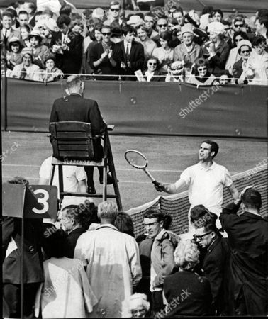 Tony Pickard After His Win Over Dennis Ralston At The 1964 Wimbledon Championships.