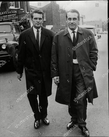 Editorial picture of (l-r) Det. Sgt. Alan Robson And Det. Con. Witham At Thames Court. Walter Probyn Escaped Prisoner Case.
