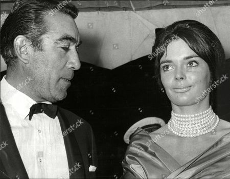 Anthony Quinn And Actress Barbara Steele At The Film Premiere Of 'the Savage Innocents'.