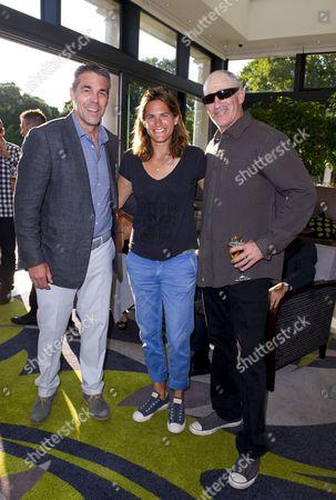 Brad Gilbert, Chris Fowler and Amelie Mauresmo