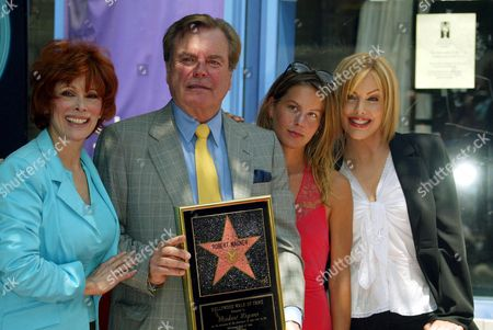 Editorial photo of ROBERT WAGNER RECEIVING STAR ON HOLLYWOOD WALK OF FAME, LOS ANGELES, AMERICA - 16 JUL 2002