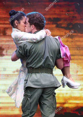 Eva Noble Zada and Alistair Brammer from the cast of 'Miss Saigon'
