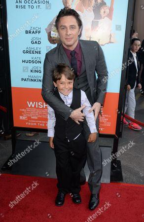 Zach Braff and Pierce Gagnon