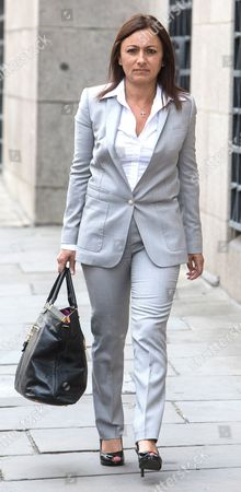 Cheryl Carter arriving at the Old Bailey