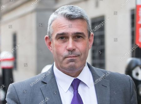 Stock Image of Mark Hanna arriving at the Old Bailey