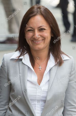 Stock Image of Cheryl Carter leaves the Old Bailey after being cleared of all charges against her, not guilty