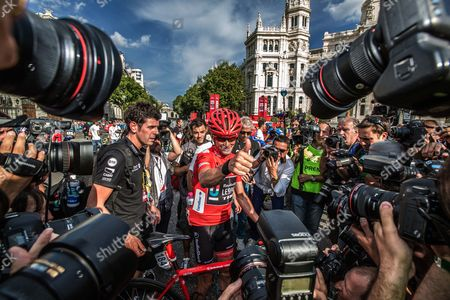 Tour of Spain - Race winner Chris Horner after the final stage of the Tour of Spain (Vuelta): Stage 21: Leganes - Madrid 99.1km