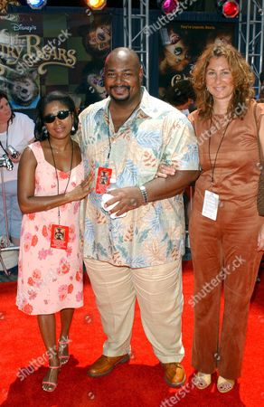 KEVIN MICHAEL RICHARDSON WITH SISTER ANTHEA AND FRIEND MONICA BURNETT