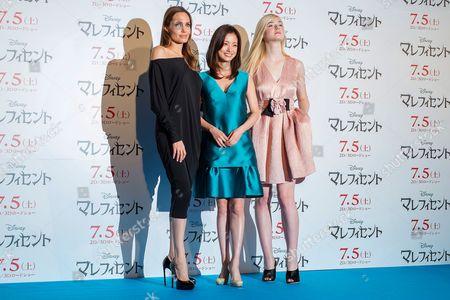 Angelina Jolie, Aya Ueto and Elle Fanning