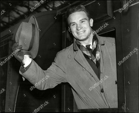 French Boxer Stefan Olek Arriving At Manchester For His Fight With Freddie Mills At Belle Vue.