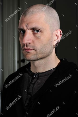 London United Kingdom - April 12: English Fantasy Fiction Writer China Mieville Photographed During A Portrait Shoot For Sfx Magazine April 12