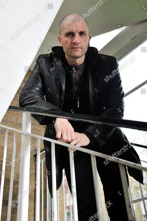 Stock Image of London United Kingdom - April 12: English Fantasy Fiction Writer China Mieville Photographed During A Portrait Shoot For Sfx Magazine April 12