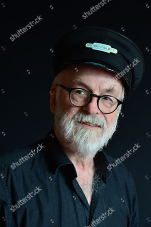 Stock Image of London United Kingdom - September 18: Portrait Of English Fantasy Author Sir Terry Pratchett Photographed To Promote The 40th Novel In His Discworld Series Raising Steam On September 18