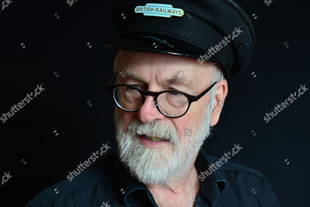London United Kingdom - September 18: Portrait Of English Fantasy Author Sir Terry Pratchett Photographed To Promote The 40th Novel In His Discworld Series Raising Steam On September 18