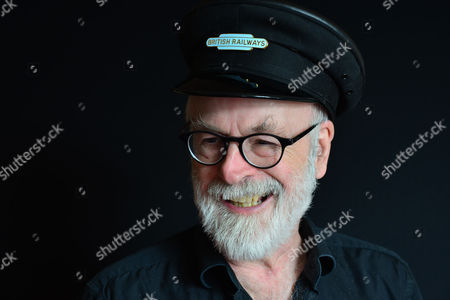 Stock Picture of London United Kingdom - September 18: Portrait Of English Fantasy Author Sir Terry Pratchett Photographed To Promote The 40th Novel In His Discworld Series Raising Steam On September 18