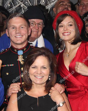 Cpl Kyle Carpenter, his mother Robin Carpenter, Margo Seibert